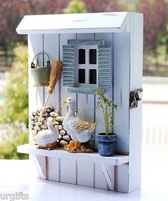 Decorative Vintage Decor Wood Key Shadow Box GOOSE Duck Farm Garden Wall Hanging | eBay