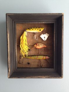 Vintage Fishing Lure Shadowbox by Blessitdesigns on Etsy