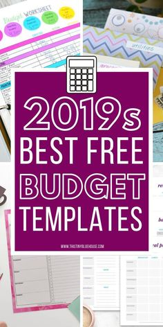 20 Free Budget Printables You Need To Use In 2019 – This Tiny Blue House – Finance tips, saving money, budgeting planner Budget Tracking, Budget Spreadsheet, Budget Binder, Monthly Budget, Monthly Expenses, Monthly Planner, Family Budget Planner, Free Planner, Making A Budget