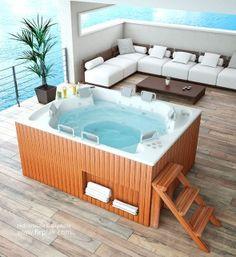 SpajacuzziexteriorAS0031A Mini piscina Pinterest