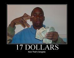 Now that's gangsta!!!