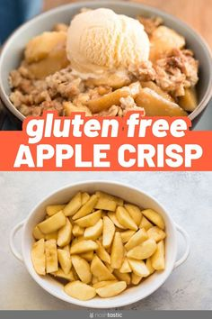 Easy Glutenfree recipe with oats includes almond flour or almond meal for the best oatmeal topping recipe. Best Apple Crisp Recipe, Gluten Free Apple Crisp, Apple Crisp Recipes, Gluten Free Oats, Almond Recipes, Dairy Free, Healthy Recipes, Apple Crisp No Oats, Oatmeal Crisp