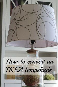 Making an IKEA lampshade fit a normal lamp.