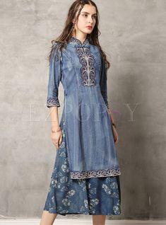 #dressforwomen #denimdress #longsleevedress