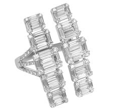 Djula emerald cut diamond ring