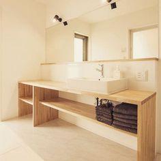 サンワカンパニーのある暮らし サンワカンパニー in 2019 Bad Inspiration, Bathroom Inspiration, Grey Room, Home Hacks, Modern Interior Design, Room Interior, Double Vanity, Toilet, New Homes