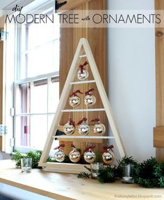DIY holiday decoration that has taken a modern spin! Not only is this fun to make but so cute to decorate with! Click The picture for details!