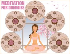 Meditation for Dummies Infographic