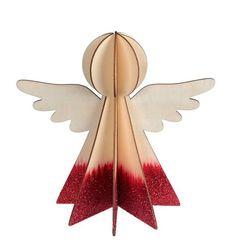 Ange - Décoration de table de Noël ou de sapin, en bois, Rouge - MAPLUSBELLEDECO Decoration, Ceiling Fan, Home Decor, Christmas Tabletop, Fir Tree, Angel, Decor, Decoration Home, Room Decor