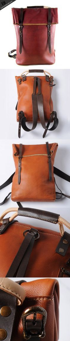 Handmade leather Backpack For men