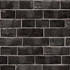 Tempaper Brick Ebony Self-Adhesive, Removable Wallpaper-BR10523 - The Home Depot