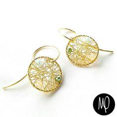 Zarcillos - Cristales - Baño de oro