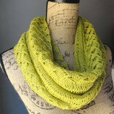 spring lace infinity scarf - Purl Avenue