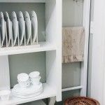 Projects simple plate rack- could easily make these- also good to store cutting boards