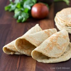 These amazing low carb wraps have trace carbs per each and 1 net carb for two low carb wraps. No specialty ingredients! Gluten-free, Keto, THM Primal