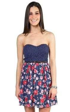 Deb Shops #floral #lace #dress
