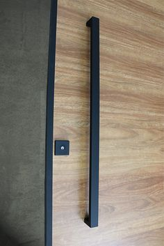 Matte Black Entry Pull Set - 1.2m long is a complete set of door hardware (hinges not icluded) for contemporary entry doors such as pivot doors.