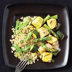 Veggie Satay with Cucumber Quinoa Salad