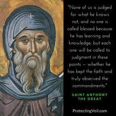Saint Anthony the Great, On the Judgment of God