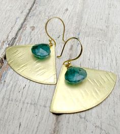 Onyx Fan Earrings | Jewelry Earrings | Tangleweeds | Scoutmob Shoppe | Product Detail and matching necklace $52