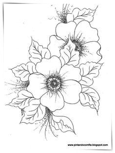 Flower design drawing web album draw flowers dogwood flowers nice flower line drawing border design Easy Flower Drawings, Flower Sketches, Drawing Sketches, Art Drawings, Drawing Flowers, Colour Drawing, Painting Flowers, Art Flowers, Flowers Garden