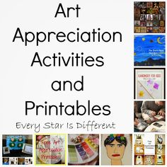 Every Star Is Different: Art Appreciation Activities and Printables for Kids (KLP Linky) Kindergarten Art, Preschool Art, Middle School Art, Art School, School Stuff, Montessori Art, Montessori Elementary, Teaching Art, Teaching French