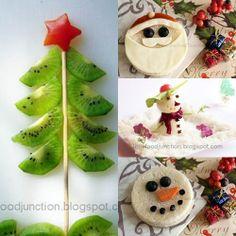 Fun Christmas food for kids! I really like the kiwi tree. Christmas Snacks, Christmas Goodies, Holiday Treats, All Things Christmas, Holiday Fun, Holiday Recipes, Christmas Holidays, Xmas Food, Classroom Treats