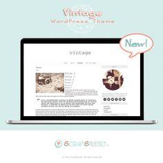 Vintage Tema WordPress Diseño Plantilla por @ScrapStudioES