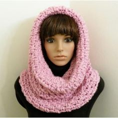 Free Crochet Hooded Scarf Pattern | Chunky Tunnel Cowl/Hood - Crochet Pattern - Planet Purl