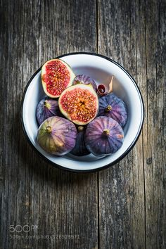 Fresh figs in bowl by Arx0nt #Food #Drinks #fadighanemmd