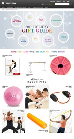 Bring ballet barre exercise home with these amazing fitness accessories and gift ideas.