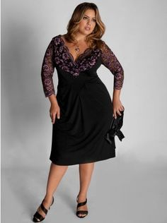 Plus size dresses eggplant color