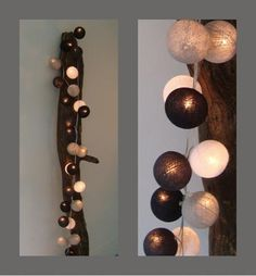 lichtslinger cottonball lights in grijstinten