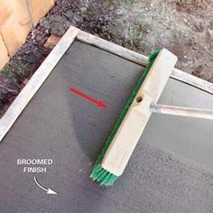 Easy DIY Concrete steps ideas for Gardens Diy Concrete Slab, Pouring Concrete Slab, Poured Concrete Patio, Concrete Tools, Concrete Patio Designs, Smooth Concrete, Concrete Finishes, Concrete Steps, Concrete Driveways
