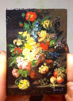 Miniature reproduction. Acrylic on cardboard.