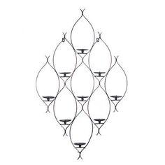 M s de 1000 ideas sobre decoraci n de pared de hierro en - Portavelas de hierro ...