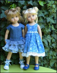 Sisters in blue Anaïs (Lana) Marianne (Joyce) the blue of Summer Girl Doll Clothes, Doll Clothes Patterns, Doll Patterns, Girl Dolls, Baby Dolls, Pretty Dolls, Cute Dolls, Beautiful Dolls, Petite Blonde