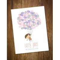 Life is Peachy Flying Girl Balloon Fingerprint Kit $45.00 www.mamadoo.com.au #lifeispeachy #mamadoo #keepsakes