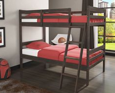 These modern children's bunk bed frames will help you make the most of out limited space in your child's room. They feature two twin beds in a simple, modern style to compliment any decor. Easy to ass