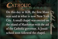 The First Mass in New York City.