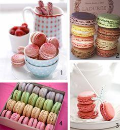Happy Bastille Day & Sweet Origins: Macarons! - Photo Credits:  1)  Cannelle Et Vanille 2) Ladurée 3)  Tartelette 4)  Taste Crumb