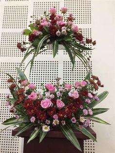 Contemporary Flower Arrangements, Tropical Flower Arrangements, Funeral Flower Arrangements, Beautiful Flower Arrangements, Funeral Flowers, Unique Flowers, Beautiful Flowers, Flower Arrangement Designs, Altar Flowers