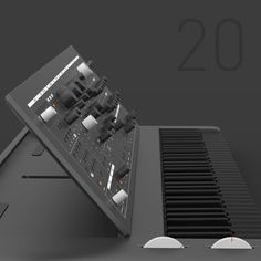 Synth designer Axel Hartmann – who's behind the industrial design of a huge number of synths, from the Alesis Andromeda to the Hartmann Neuron to the Waldorf Wave – is teasing som… Creative Inspiration, Design Inspiration, Piano, Laptop Design, Music Studio Room, Audio Music, Electronic Music, Drum Machine, Desk Setup