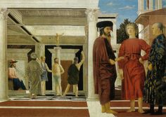 The Flagellation of Christ, Composition and Geometry. The mathematical beauty of The Flagellation of Christ. We investigate the painter and mathematician Piero della Francesca's use of geometry to add new levels of meaning to his composition. Renaissance Kunst, Renaissance Artists, Renaissance Paintings, Giorgio Vasari, La Passion Du Christ, Renaissance And Reformation, Flagellation, Art Occidental, Art Ancien