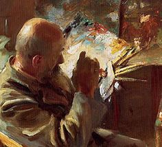 Detail: 'An Artist In His Studio' by John Singer Sargent  http://chrisoatley.com/newsletter/