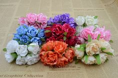 0.82$  Buy here - 4.5 cm 6pcs/bunch Artificial flowers roses silk flower hydrangea wreath DIY material shooting background decorative flowers   #magazineonlinebeautiful