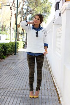 25 Ways to Style Camo Pants Throughout the Fall   StyleCaster