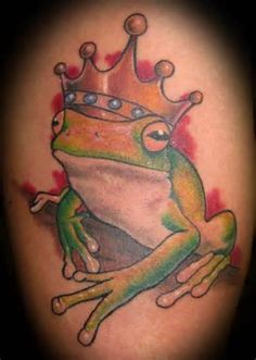 Cartoon Frog Tattoos