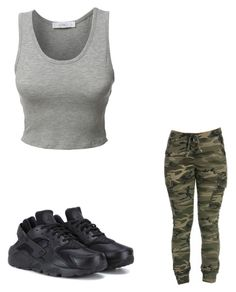 """""""Untitled #50"""" by amysonmaijah on Polyvore featuring LE3NO and NIKE"""