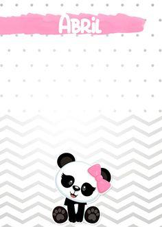 Agenda Planner, Free Planner, Planner Pages, Planner Stickers, Panda Baby Showers, Panda Bebe, Panda Party, Ideas Para Fiestas, Doodles